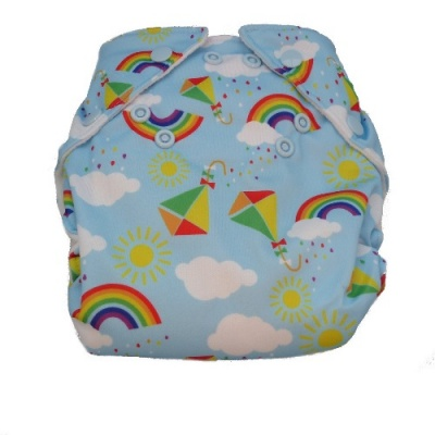 Real Easy Sized Nappy - Rainbow Kites (15lbs - 32lbs)